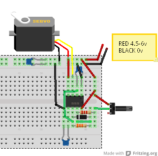 servo tester by 555 timer larsivar com rh larsivar com RC Servo Wiring RC Servo Wiring